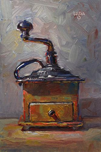 """Coffee Grinder"" original fine art by Raymond Logan"