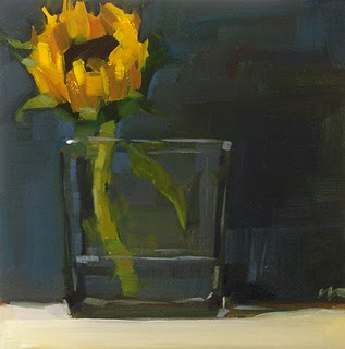 """Sunflower --- SOLD"" original fine art by Carol Marine"
