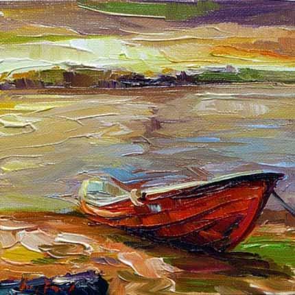 """""""Ein Boot"""" original fine art by Jurij Frey"""