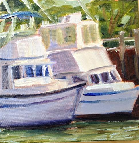 """Plein Air in Barnstable Harbor"" original fine art by Debra Kennedy"