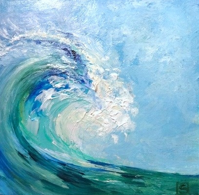 """4141 - The Wave - KISS Painting"" original fine art by Sea Dean"