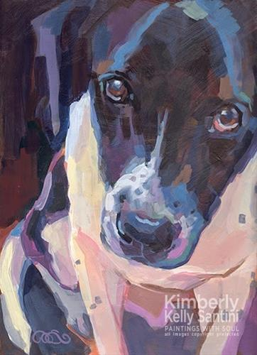 """Wistful"" original fine art by Kimberly Santini"