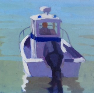 """Harbor Master"" original fine art by Bobbi Heath"