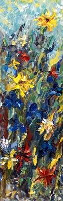 """Original Palette Knife Flower Landscape Painting  Flavor of Spring by Colorado Artist Judith Babco"" original fine art by Judith Babcock"