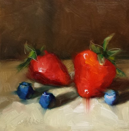 """Juicy Berries"" original fine art by Cindy Haase"