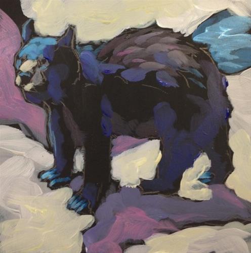 """Prickly Bear"" original fine art by Kat Corrigan"