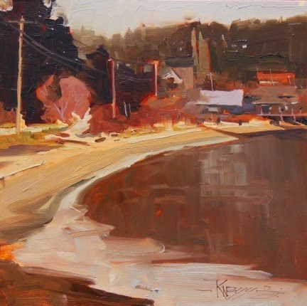 """View towards Lynwood Center  plein air, landscape painting by Robin Weiss"" original fine art by Robin Weiss"