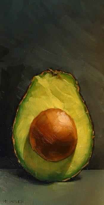"""Avocado Half Part 2"" original fine art by Michael Naples"