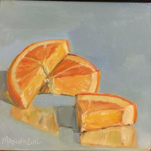 """""""Oranges"""" original fine art by Merle Manwaring"""