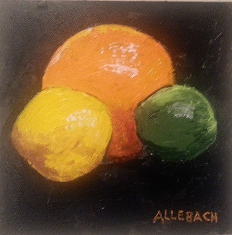 """Citrus"" original fine art by Jo Allebach"