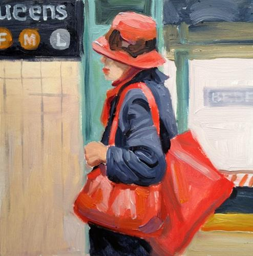 """The Red Bags"" original fine art by Deborah Newman"