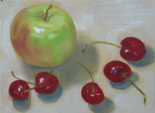 """Snacktime"" original fine art by Sandy Haynes"
