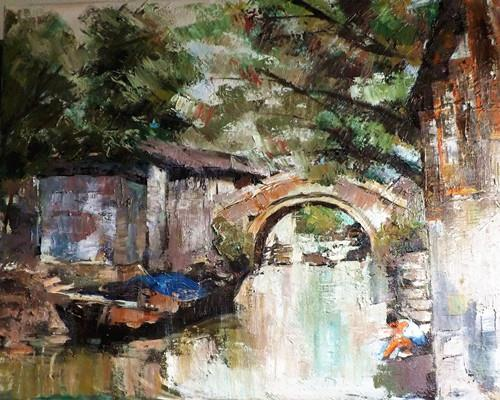 """ZHOU ZHUANG 2"" original fine art by Run-      Zhang Zane"