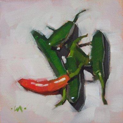 """One Hot Mama"" original fine art by Carol Marine"