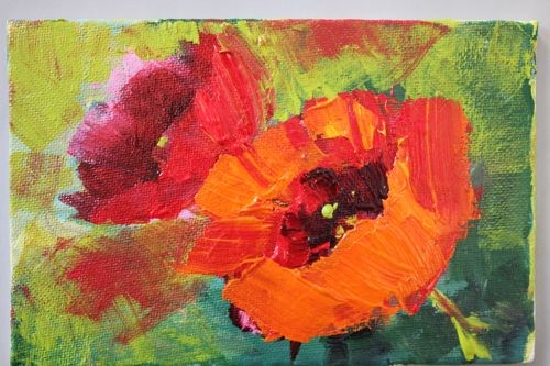 """Poppies Floral Contemporary Paintings by Arizona Artist Amy Whitehouse"" original fine art by Amy Whitehouse"