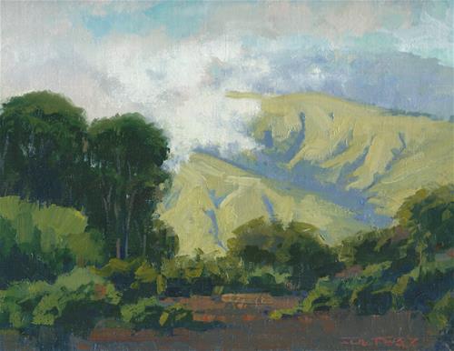 """Incoming fog"" original fine art by J. Thomas soltesz"