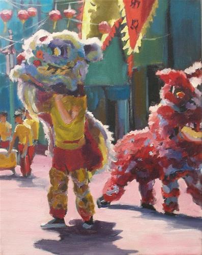 """Dragon Dancers"" original fine art by Wendy Brayton"