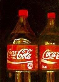 """Coca Cola Bottle Small 2 - Still life of bottles of coke"" original fine art by Gerard Boersma"