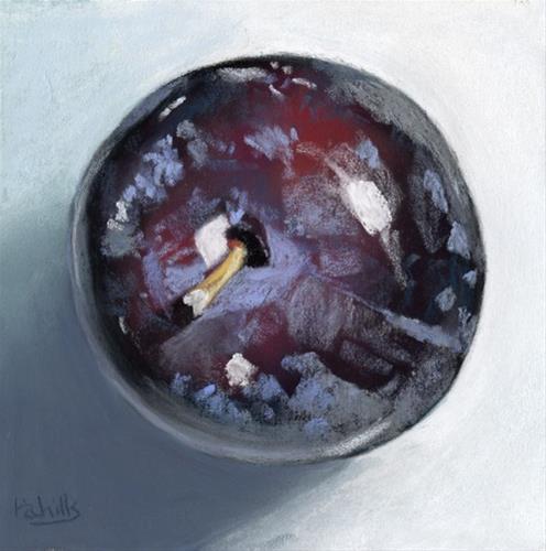 """""""A Plum"""" original fine art by Ria Hills"""