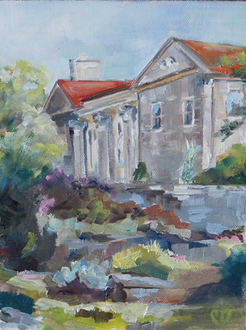 """Plein Air Study - The Cheek Mansion"" original fine art by Carol DeMumbrum"