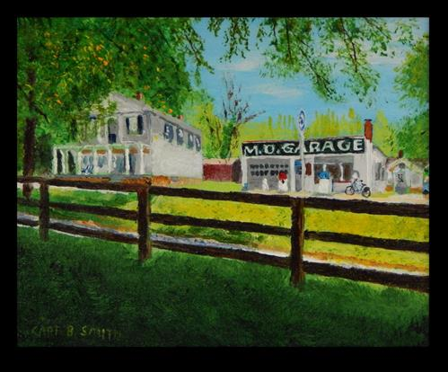 """MD Garage"" original fine art by Captain B Smith"