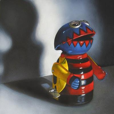 """Zippy  6x6"" original fine art by M Collier"