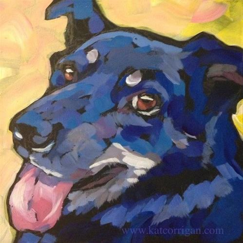 """Teddy"" original fine art by Kat Corrigan"