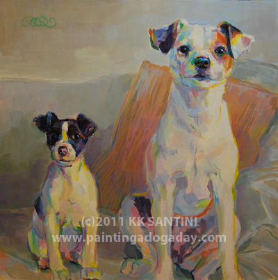 """Family Portrait"" original fine art by Kimberly Santini"
