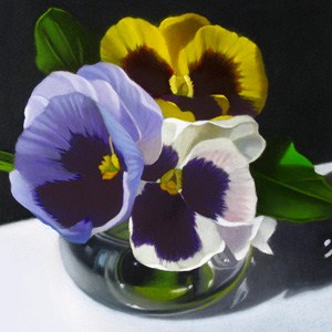 """Pansies No.2 4x4"" original fine art by M Collier"