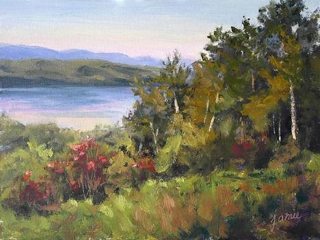 """Nearing Sunset at Olana"" original fine art by Jamie Williams Grossman"