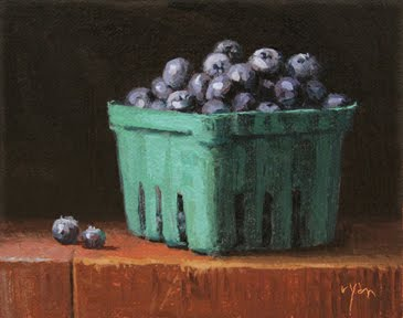 """Summer Blueberries"" original fine art by Abbey Ryan"