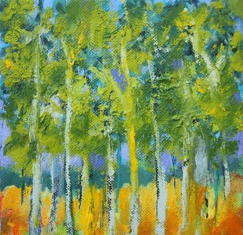"""Trees Catch Sunlight, Contemporary Landscape Paintings by Amy Whitehouse"" original fine art by Amy Whitehouse"