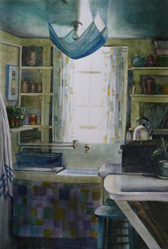 """Cottage Kitchen"" original fine art by Belinda Del Pesco"