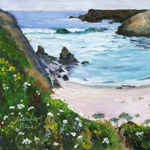 """Yarrow by the Beach"" original fine art by Mariko Irie"