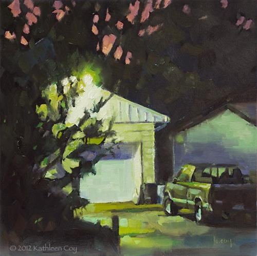 """Green Glow"" original fine art by Kathleen Coy"