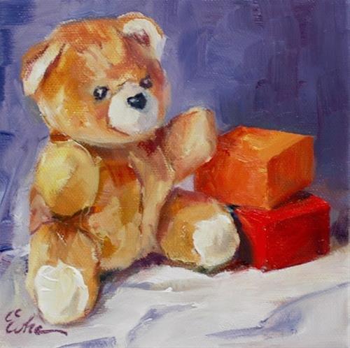 """""""Enfance"""" original fine art by Evelyne Heimburger Evhe"""