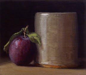 """Still Life with Local Plum"" original fine art by Abbey Ryan"