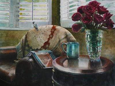"""""""Watercolor: Afternoon with Wyeth (& the Richeson75 Small Works Show)"""" original fine art by Belinda Del Pesco"""