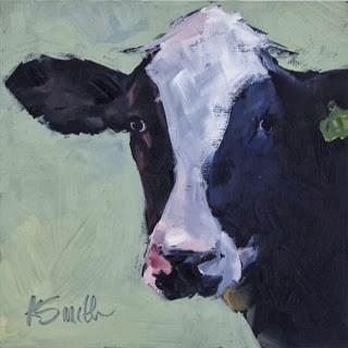 """holy cow"" original fine art by Kim Smith"