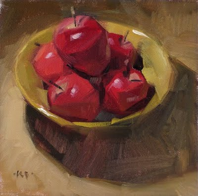 """Apple Bowl"" original fine art by Carol Marine"