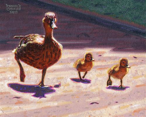 """""""Ducky walk"""" original fine art by Donald Curran"""
