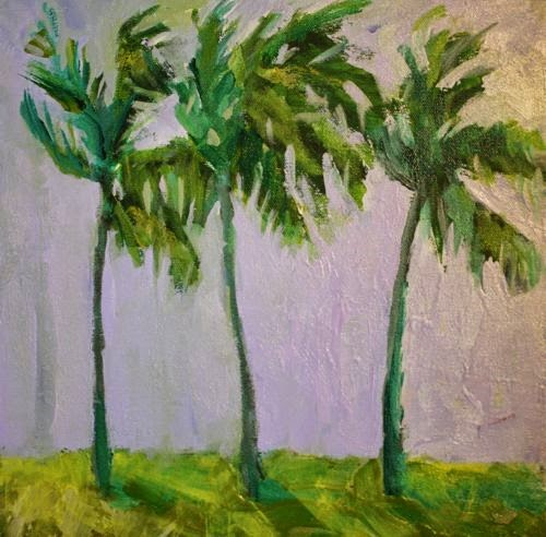 """Cabo Palms, Contemporary Landscape Paintings by Arizona Artist Amy Whitehouse"" original fine art by Amy Whitehouse"