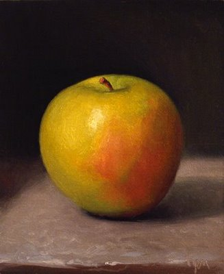 """Apple No. 9"" original fine art by Abbey Ryan"