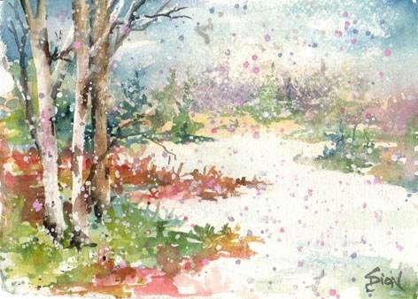 """""""Winter Wonder"""" original fine art by Sue Dion"""