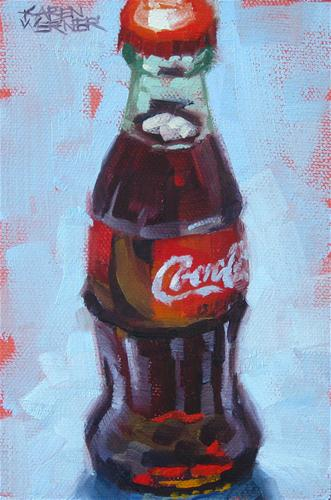 """Backlit Coke"" original fine art by Karen Werner"