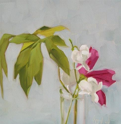 """My heart is white"" original fine art by Brandi Bowman"