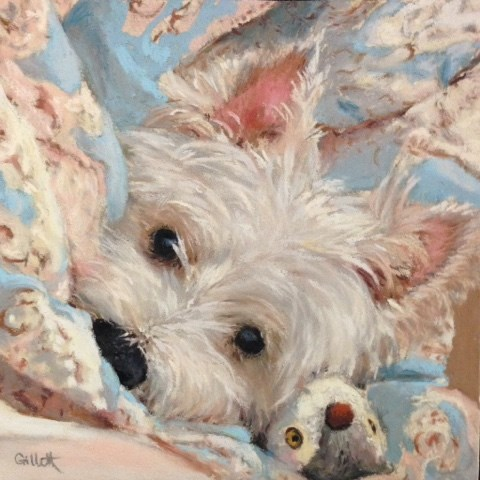 """Bedtime Buddies"" original fine art by Cindy Gillett"