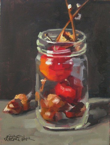 """Fall In A Jar"" original fine art by Karen Werner"