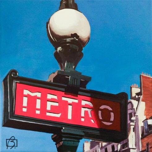 """Metro Paris"" original fine art by Andre Beaulieu"