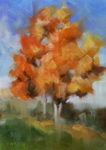 """Autumn"" original fine art by Cindy Haase"